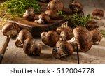 Portobello Mushrooms On A...