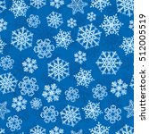snowflakes on blue background... | Shutterstock .eps vector #512005519