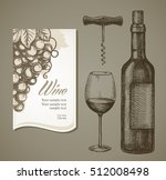 wine label in the decorative... | Shutterstock .eps vector #512008498