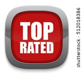 top rated button | Shutterstock .eps vector #512018386