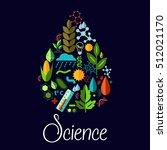 science vector emblem in shape... | Shutterstock .eps vector #512021170