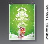vector merry christmas holiday...   Shutterstock .eps vector #512022328
