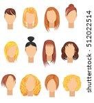 women's hair. icons female... | Shutterstock .eps vector #512022514