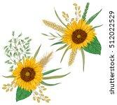 sunflower  barley  wheat  rye ... | Shutterstock .eps vector #512022529