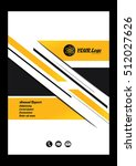 yellow and black annual report...   Shutterstock .eps vector #512027626