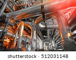 equipment  cables and piping as ... | Shutterstock . vector #512031148