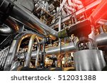 equipment  cables and piping as ... | Shutterstock . vector #512031388