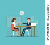 vector concept of job interview ... | Shutterstock .eps vector #512032090