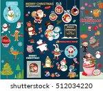 vintage christmas poster design ...   Shutterstock .eps vector #512034220