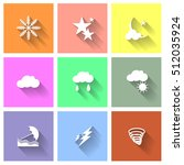 flat design white icon weather... | Shutterstock .eps vector #512035924