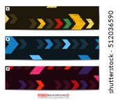 set oh three color abstract... | Shutterstock .eps vector #512036590