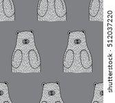 bear seamless vector pattern... | Shutterstock .eps vector #512037220