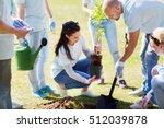 volunteering  charity  people... | Shutterstock . vector #512039878