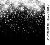 christmas snowfall. falling... | Shutterstock .eps vector #512045050