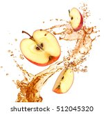 splash juice with apple... | Shutterstock . vector #512045320