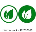 abstract green leaf signs on... | Shutterstock .eps vector #512050300