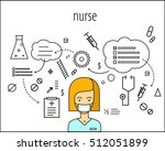 nurse vector character. board... | Shutterstock .eps vector #512051899