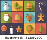 horizontal flat design long... | Shutterstock .eps vector #512052100