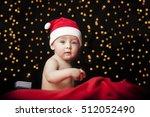 Beautiful Baby In Santa Hat...