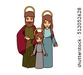mary joseph and jesus of holy... | Shutterstock .eps vector #512052628