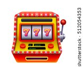 jackpot slot machine... | Shutterstock .eps vector #512054353
