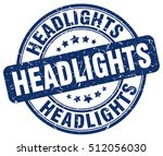 headlights stamp.  blue round... | Shutterstock .eps vector #512056030