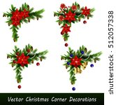 set of cristmas corner... | Shutterstock .eps vector #512057338
