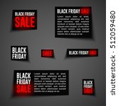 black friday sale badges and... | Shutterstock .eps vector #512059480