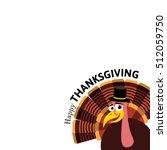 cartoon thanksgiving turkey.... | Shutterstock .eps vector #512059750