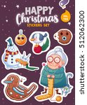 set of merry christmas and... | Shutterstock .eps vector #512062300