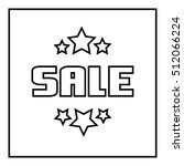 sale emblem with satrs icon....   Shutterstock . vector #512066224