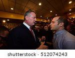 Small photo of NEW YORK CITY - NOVEMBER 4 2016: Key figures in New York's Democratic Party gathered at Junior's in Brooklyn for Steve Cohn's pre-election breakfast.