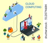 isometric cloud computing... | Shutterstock .eps vector #512074684