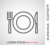 line icon  plate  knife and fork | Shutterstock .eps vector #512076079