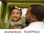 african american father and... | Shutterstock . vector #512079613