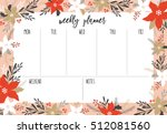 organizer and schedule set with ... | Shutterstock .eps vector #512081560