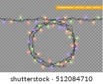 garlands christmas decorations... | Shutterstock .eps vector #512084710
