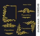 vintage frames  dividers ... | Shutterstock .eps vector #512085148