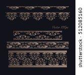 vintage frames  dividers ... | Shutterstock .eps vector #512085160