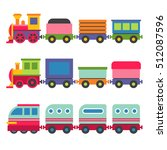 cartoon style toy railroad... | Shutterstock .eps vector #512087596