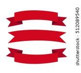 ribbon icon illustration design   Shutterstock .eps vector #512089540