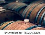 Wine Barrels In A Cellar ...