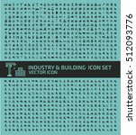 industry and building icon set... | Shutterstock .eps vector #512093776