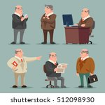 businessman big boss adult old... | Shutterstock .eps vector #512098930