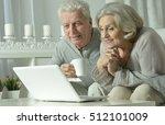 senior couple  with laptop | Shutterstock . vector #512101009