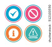 information icons. stop... | Shutterstock .eps vector #512103550