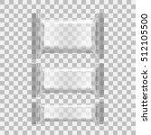 realistic transparent blank... | Shutterstock .eps vector #512105500