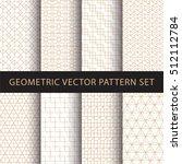 geometric vector pattern pack | Shutterstock .eps vector #512112784