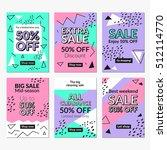 flat design sale website... | Shutterstock .eps vector #512114770
