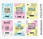flat design sale website... | Shutterstock .eps vector #512114779